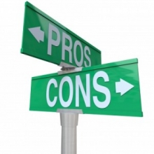 pro and con sign